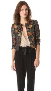 alice + olivia rochelle short floral blazer $596 shopbop