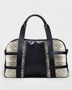 Francesca Lizard Natural Satchel