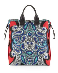 lanvin padam paisley shopper bag $1385