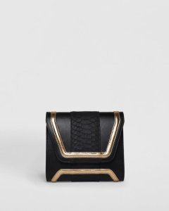 mini giovanna mirror rose boxy clutch