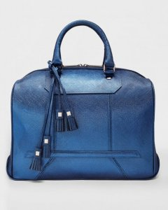 Monte Carlo Saffiano Royal Blue satchel