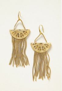 Aime Disc Fringe earrings