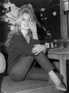 brigitte bardot 1960s slim cropped