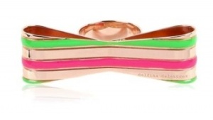 DD Enamel Striped bow ring