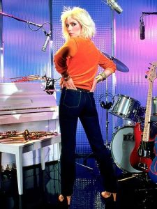debbie harry, high waisted bootcut