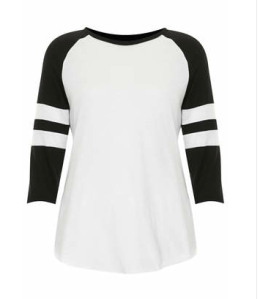Black Raglan top