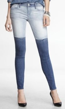 Low Rise Pieced Jean legging