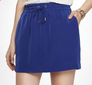 Woven Drawstring skirt