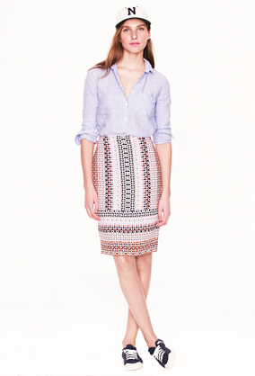 J.Crew Drapey Pencil skirt