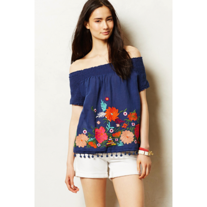 full bloom peasant top