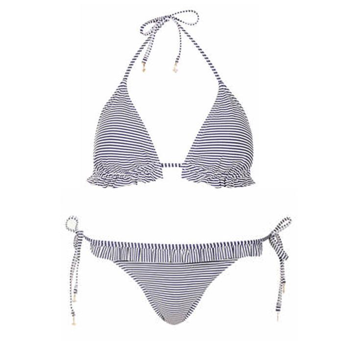 Topshop Navy Stripe bikini