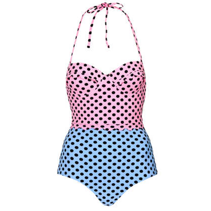 Topshop Scallop stop swimsuit
