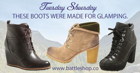 Glamping galoshes for fb