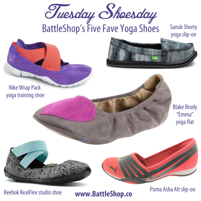 Yoga And Shoes: Tuesday Shoesday – Our Five Fave Yoga Shoes