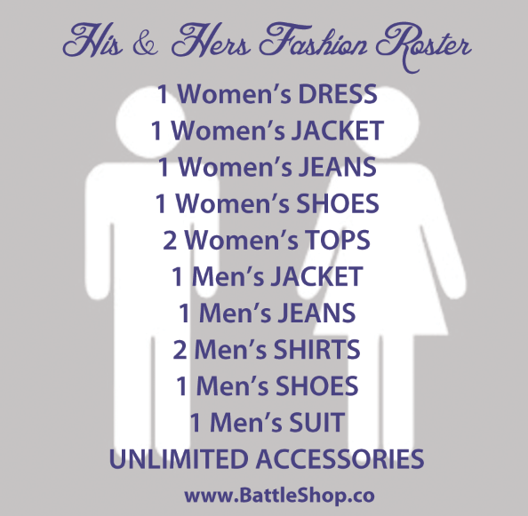 His & Hers roster