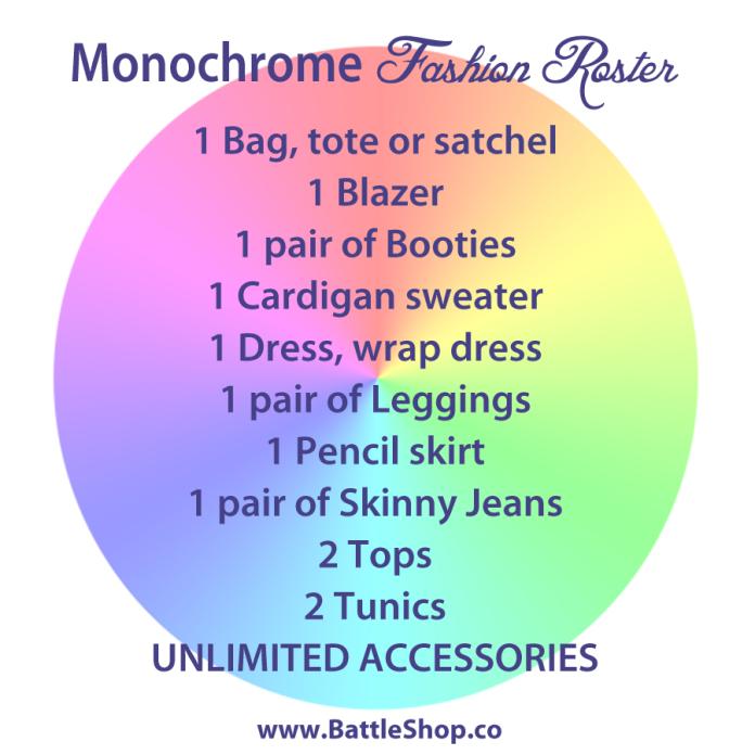monochrome roster