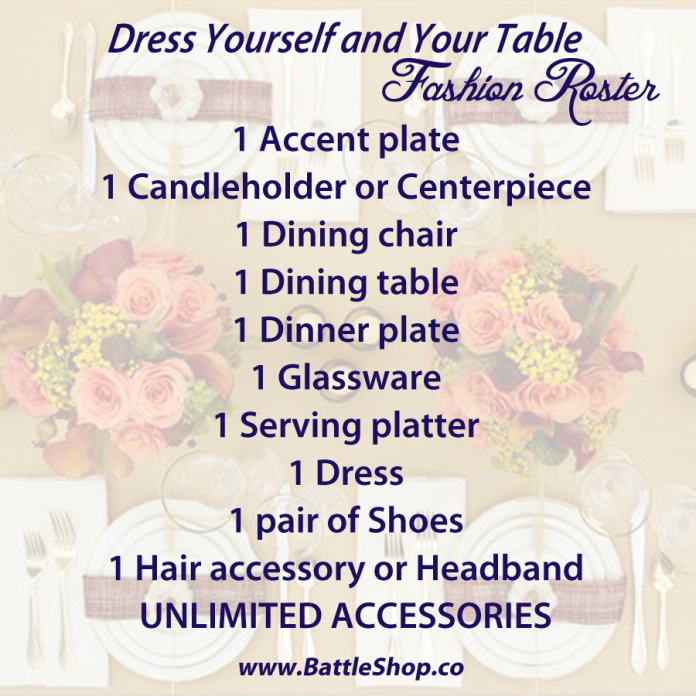 Dress Yourself & Table roster