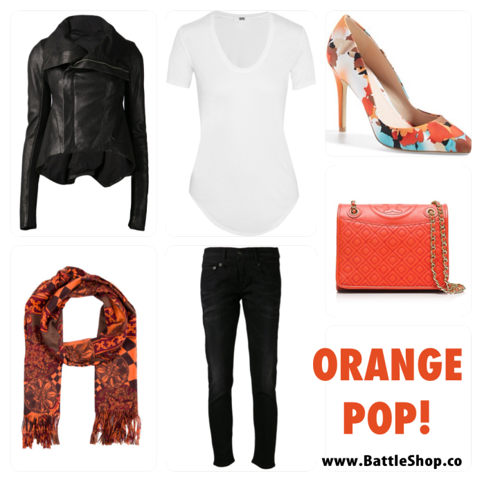 pop of orange collage